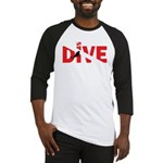 Dive Text Baseball Jersey