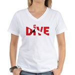 Dive Text Women's V-Neck T-Shirt
