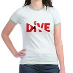 Dive Text Jr. Ringer T-Shirt