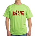 Dive Text Green T-Shirt