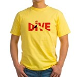 Dive Text Yellow T-Shirt