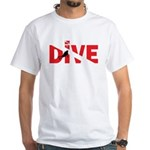 Dive Text White T-Shirt
