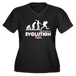Evolution of Diving 2 Women's Plus Size V-Neck Dar