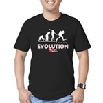 Evolution of Diving 2 Men's Fitted T-Shirt (dark)