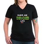 Enriched Life Women's V-Neck Dark T-Shirt