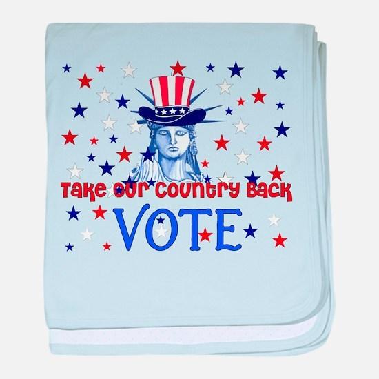Vote Election 2008 Infant Blanket