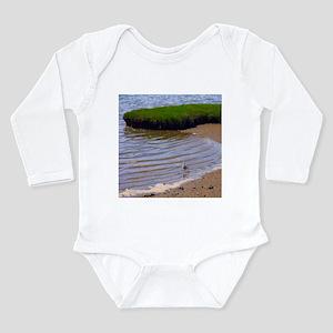Seagull in Surf Long Sleeve Infant Bodysuit