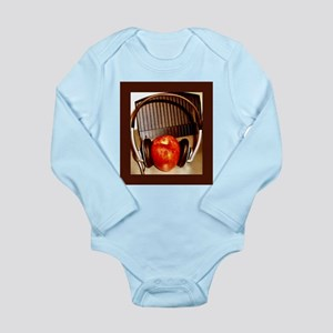 Shiny Red Apple With Headphon Long Sleeve Infant B