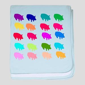 Rainbow Pigs Infant Blanket