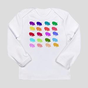 Rainbow Pigs Long Sleeve Infant T-Shirt