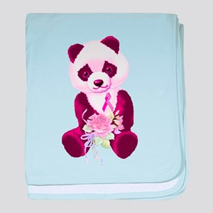 Breast Cancer Panda Bear Infant Blanket