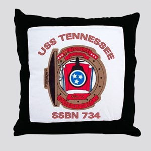 USS Tennessee SSBN 734 Throw Pillow