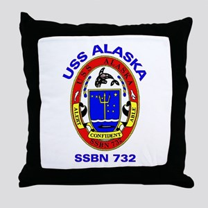 USS Alaska SSBN 732 Throw Pillow