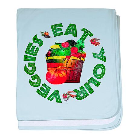 Eat Your Veggies baby blanket