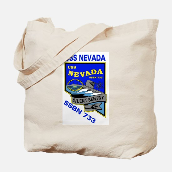 USS Nevada SSBN 733 Tote Bag