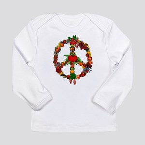 Veggie Peace Sign Long Sleeve Infant T-Shirt