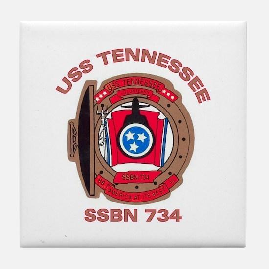 USS Tennessee SSBN 734 Tile Coaster