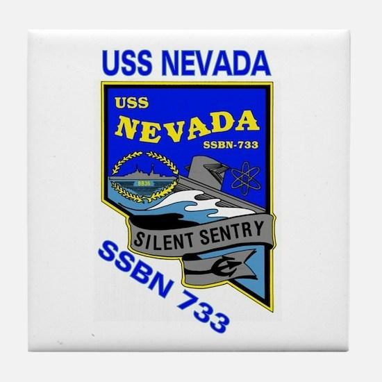 USS Nevada SSBN 733 Tile Coaster