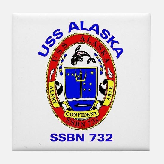 USS Alaska SSBN 732 Tile Coaster