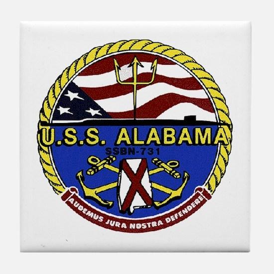 USS Alabama SSBN 731 Tile Coaster