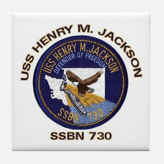 USS Henry M Jackson SSBN 730 Tile Coaster