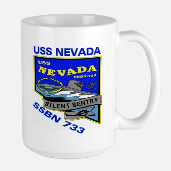 USS Nevada SSBN 733 Large Mug