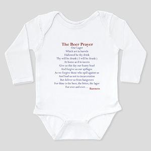 Beer Prayer Long Sleeve Infant Bodysuit