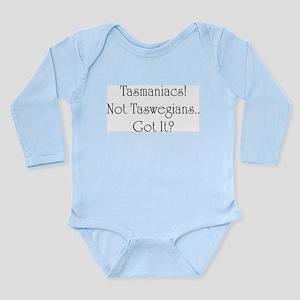 Tasmania Tasmaniacs Long Sleeve Infant Bodysuit