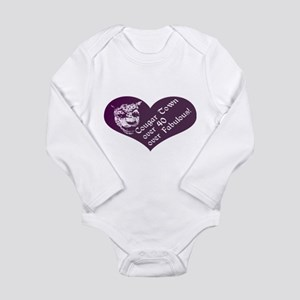Over 40, Over Fabulous Long Sleeve Infant Bodysuit