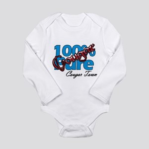 100% Pure Cougar Long Sleeve Infant Bodysuit