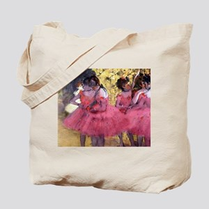 Degas Ballerinas in Red Tote Bag