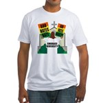 GOD HATES HATE Fitted T-Shirt