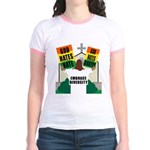 GOD HATES HATE Jr. Ringer T-Shirt