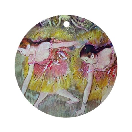 Degas Ballet Dancers Ornament (Round)