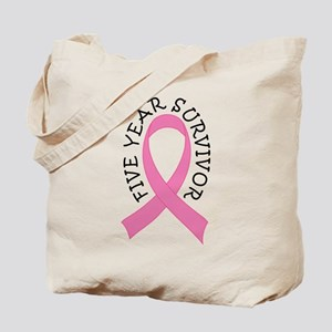 5 Year Survivor Breast Cancer Tote Bag