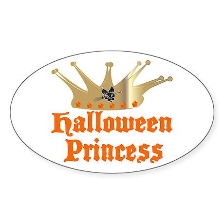 Halloween Princess Sticker (Oval)