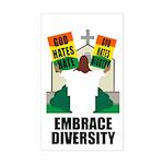 GOD HATES HATE Rectangle Sticker