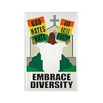 GOD HATES HATE Rectangle Magnet