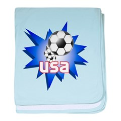 Soccer USA Infant Blanket