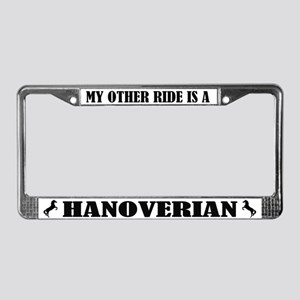 My Other Ride is a Hanoverian License Plate Frame