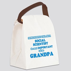 Some call me a Social Scientist, Canvas Lunch Bag