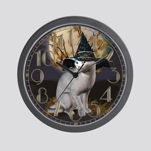 Witches Cat Wall Clock