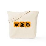 Eat Sleep Halloween Tote Bag