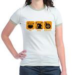 Eat Sleep Halloween Jr. Ringer T-Shirt