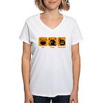 Eat Sleep Halloween Women's V-Neck T-Shirt