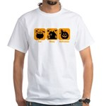Eat Sleep Halloween White T-Shirt