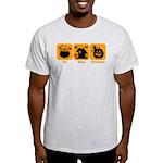 Eat Sleep Halloween Light T-Shirt