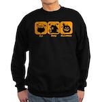 Eat Sleep Halloween Sweatshirt (dark)