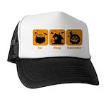 Eat Sleep Halloween Trucker Hat