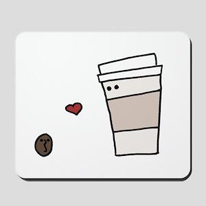Coffee Bean Loves Coffee Mousepad